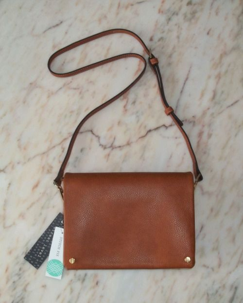 "Street Level Demi Fold Over Vegan Leather Crossbody Bag. Measures 9 1/4"" wide x 6 1/2"" high. https://www.stitchfix.com/referral/4292370"