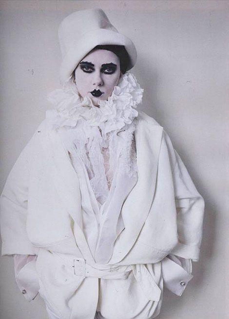 Scarlett Johansson as Sarah Bernhardt (Pierrot the Murderer)by Tim Walker, W Magazine, 2010