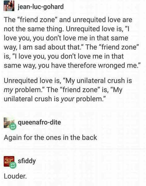 """Let's stop using the word """"friend-zone"""" and call it what it is: a lack of maturity at being rejected."""
