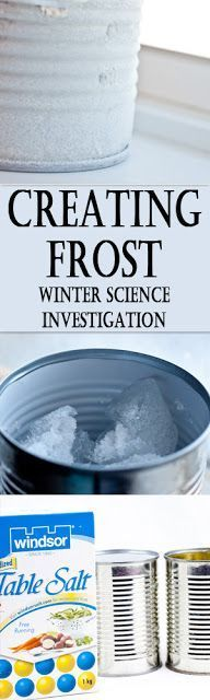 Creating Frost - This fun science experiments is a great winter science kids activities for kindergarten, first grade, 2nd grade, 3rd grade, 4th grade, 5th grade, and 6th grade kids.Perfect for science fair projects or homeschool.