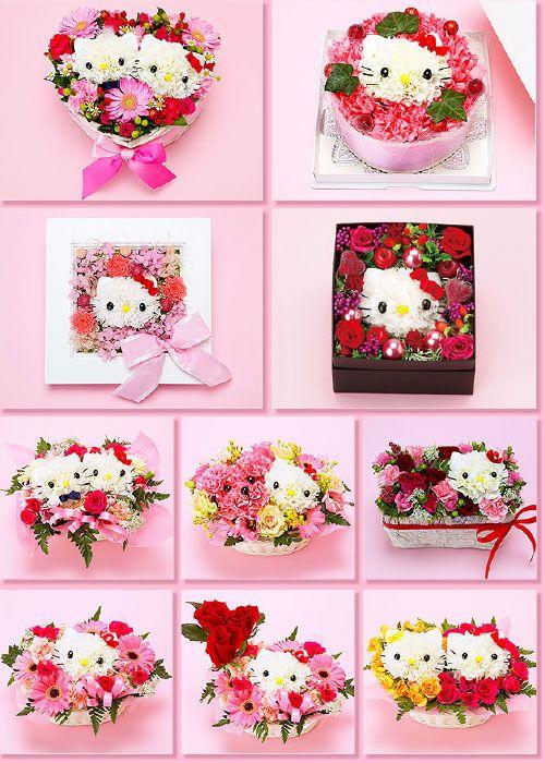 Hello Kitty Bouquets w/ tutorials by Zakkalife on www.badkitteh.com
