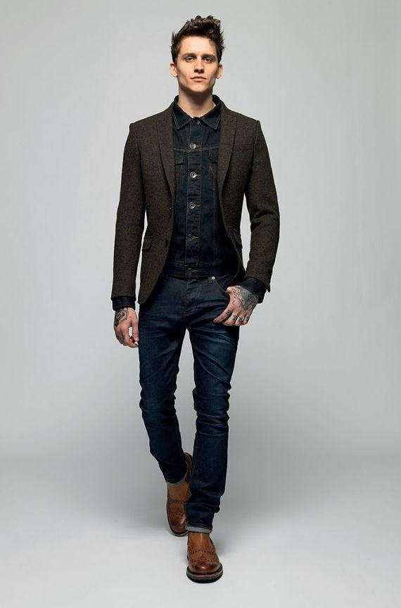 Jaqueta jeans/blazer