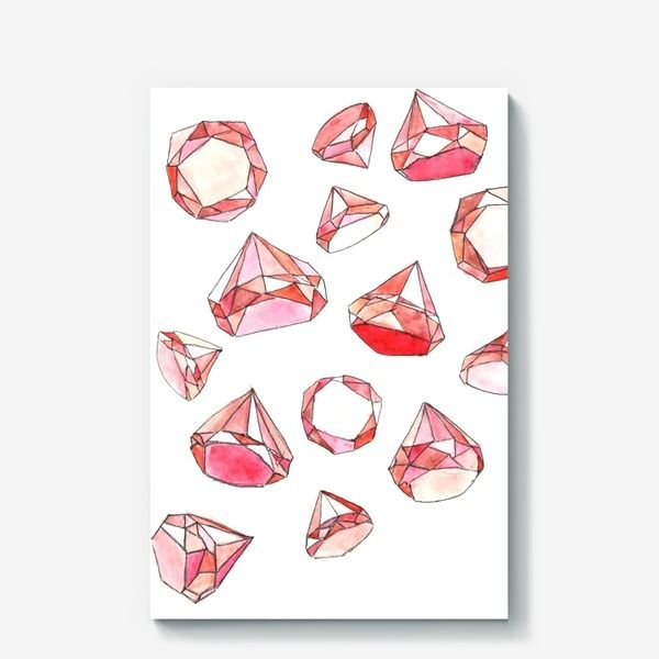 Холст «Розовые бриллианты »