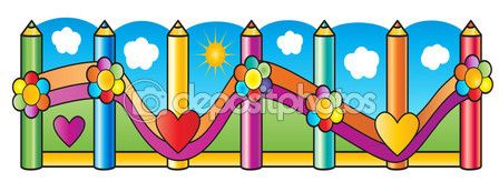I love school digital illustration. Pencils on blue sky with white clouds and sun background. Abstract background. Education - collage symbols. Kids poster. Hand drawn. Cartoon style. — Stock Vector © sofiartmedia.gmail.com #116006258