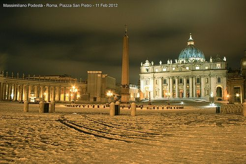 Snow in Vatican
