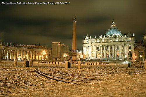 Snow in Vatican
