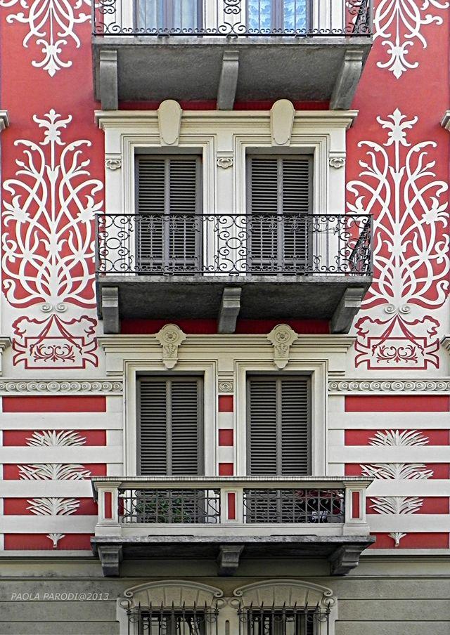 Torino Liberty. Casa Medana- Perino, Via Lombroso 8 (San Salvario) - 1902, Enrico Bonicelli