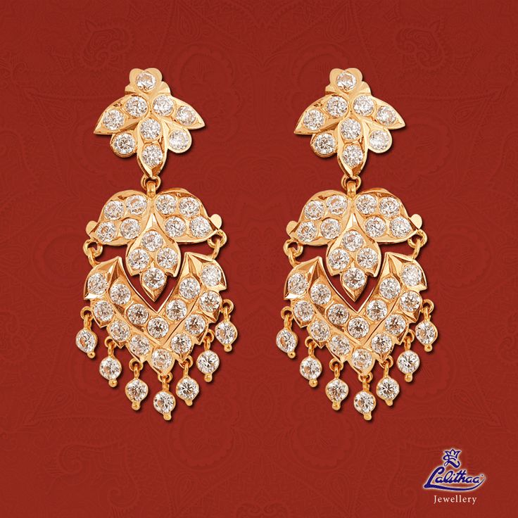 The old tradition come closer...!!! The most aw sum combination of studded stones earrings...!!! Amazing give a traditional look...!!! #lalithaajewellery  Product code: Getti Earrings002 Check out here: http://bit.ly/1QUdf0w