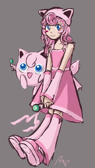 See? Pink dress and accessories. It will be totatally cute and not too hard. jigglypuff costume | Gijinka - Jigglypuff by ~Artema on deviantART