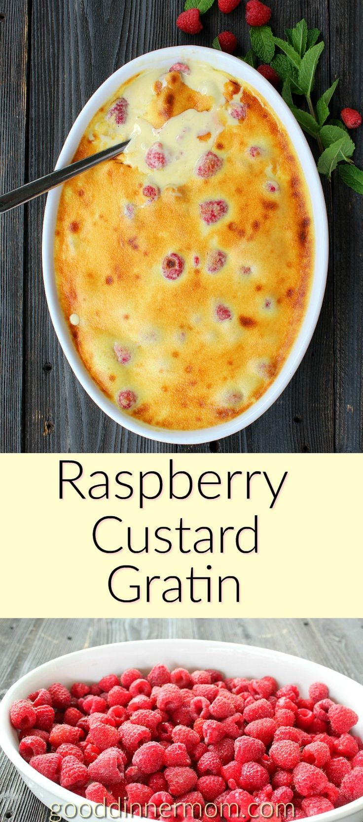 Raspberry Custard Gratin is simple to make, with homemade Bavarian custard mixed with whipped cream, spread over the raspberries and toasted to perfection.