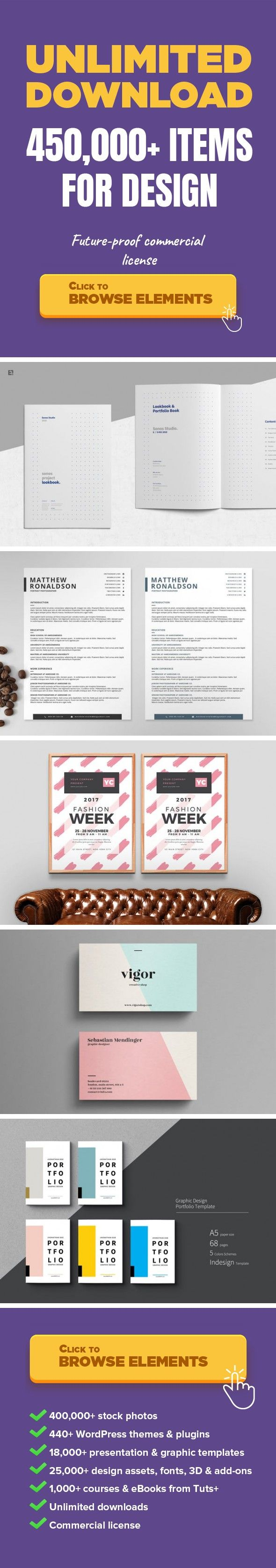 bartender job description resume%0A Portfolio Lookbook Graphic Templates  Print Templates portfolio  profile   resume  set  customize