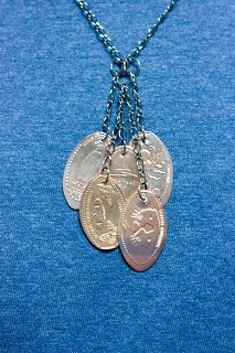 Souvenir Penny Necklace | Leela's Moments #diy