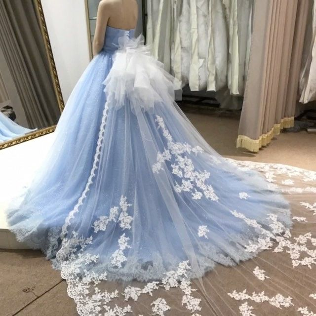 Beautiful, elegant, pale blue dress