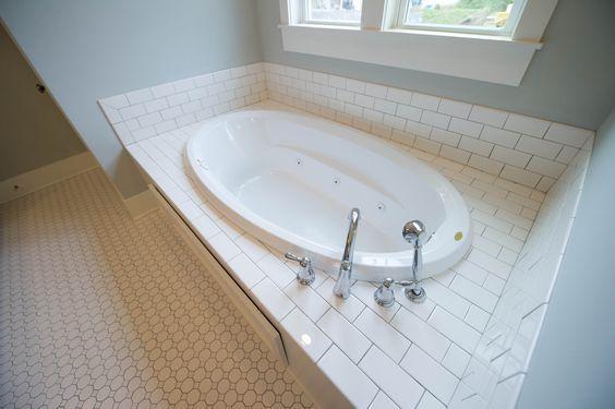 Subway Tile Deck In 2019 Tub Remodel Tile Tub Surround Tub Tile
