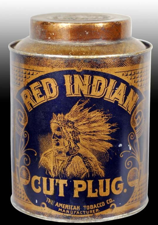 Red Indian Tobacco Canister Tin