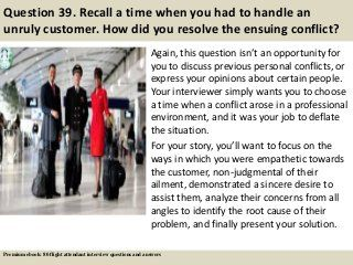ebook: 80 flight attendant interview questions, supported by davinetmedia