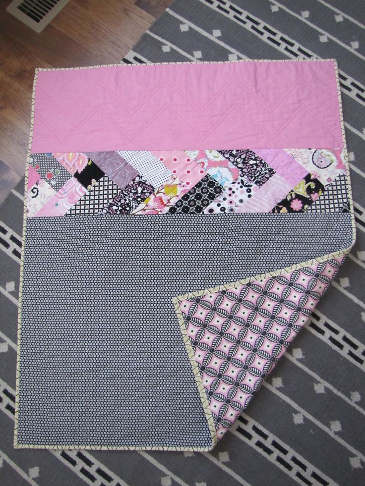 French Braid on a simple quilt by Snippy Sisters ... Could be the back of a quilt..........