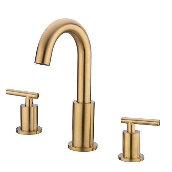 Trustmi 2 Handle 8 Inch Widespread Bathroom Faucet With Valve And