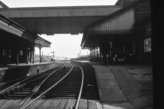 Unseen images of Tunstall: Bert Bentley Collection - 1964 The Boulevard. Tunstall loop line railway station - closed. View...