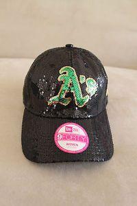 Victoria's Secret RARE Oakland Athletics A's MLB Baseball Cap Hat Bling Sequins