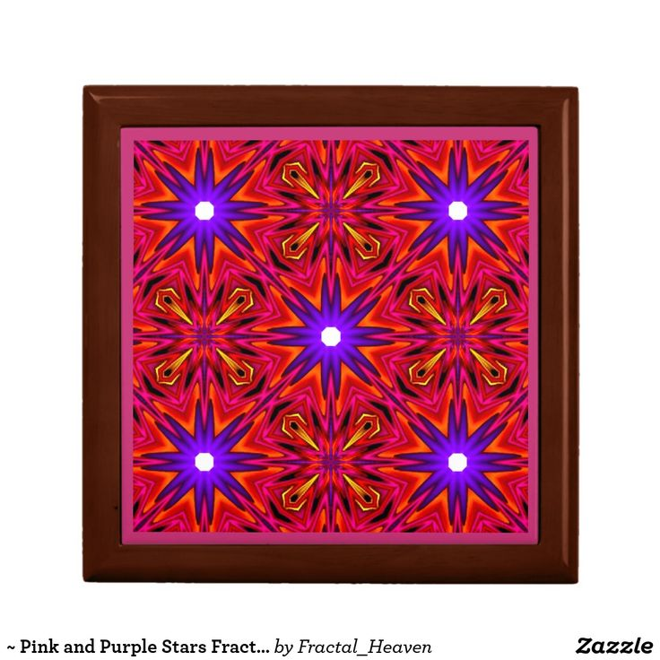 ~ Pink and Purple Stars Fractal ~