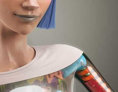 """Check out new work on my @Behance portfolio: """"Visible Human"""" http://be.net/gallery/35830733/Visible-Human"""