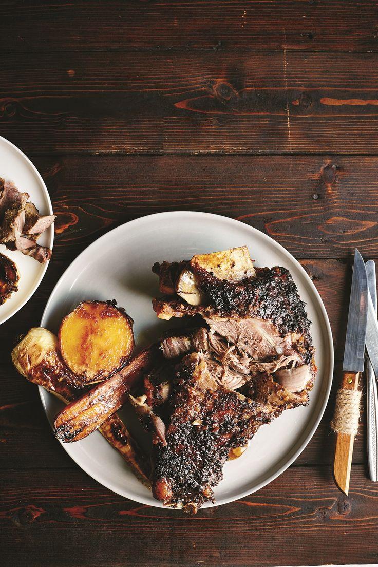 Slow-roasted goat shoulder #recipe