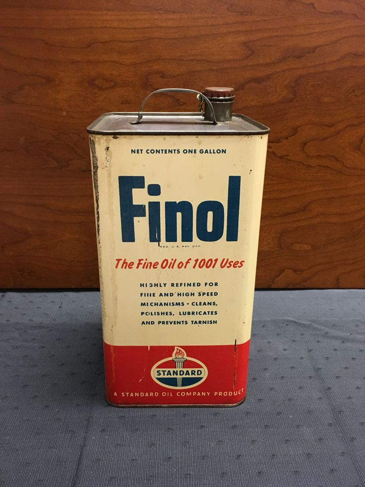 Vintage Finol One-Gallon Standard Oil Can by TheCreakyHinge on Etsy