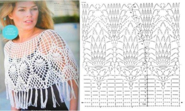 16 CAPAS PONCHOS MAÑANITAS PARA TEJER A CROCHET | Patrones Crochet, Manualidades y Reciclado