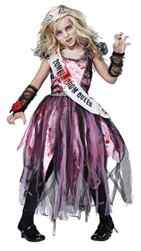 Zombie Halloween Costumes are currently very popular and trendy costume choice for Halloween 2017. Especially true when it comes to both scary, wicked, and sexy women's zombie Halloween costumes and men's Twisted, creepy and spooky zombie Halloween Costumes. California Costumes Zombie Prom Queen Costume, Pink/Black, Large