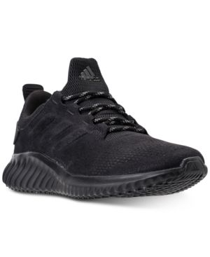 a1a0033e8068 adidas Men s Alpha Bounce City Running Sneakers from Finish Line - Black  10.5