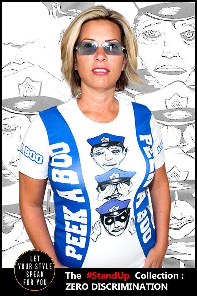Peek A Boo Police - Women's Cotton Tee