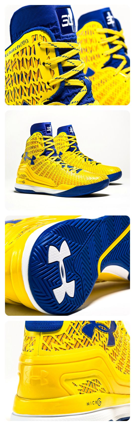 Get clutch like Golden State's sharp-shooting point guard in this Under Armour ClutchFit Drive Stephen Curry PE