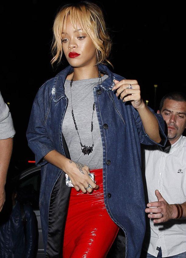 Rihanna, futbolcularla buluştu!