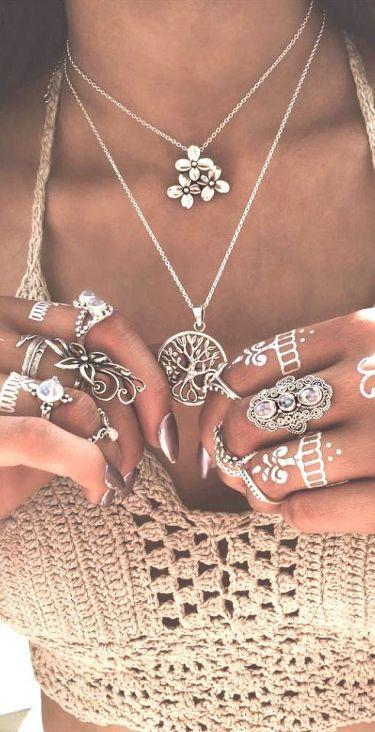Boho accessories, Boho rings Coachella style, Coachella accessories, Coachella fashion, Coachella jewelry