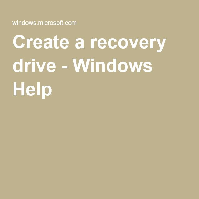 how to create windows 10 recovery usb