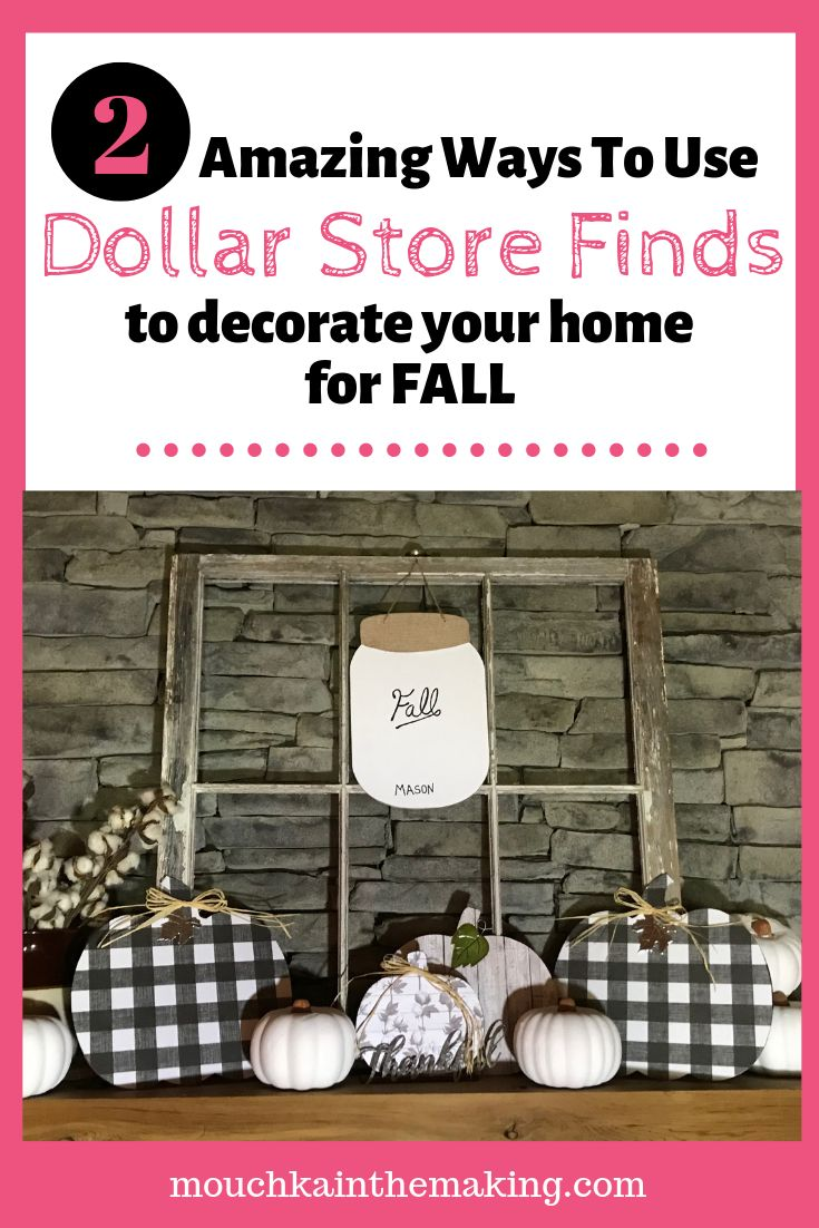 Dollar Store Fall Decor