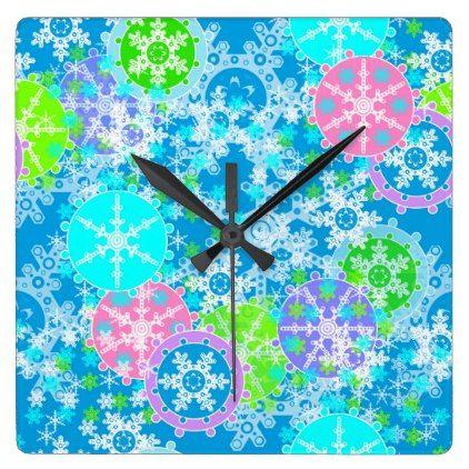 #New year design square wall clock - #Xmas #ChristmasEve Christmas Eve #Christmas #merry #xmas #family #holy #kids #gifts #holidays #Santa
