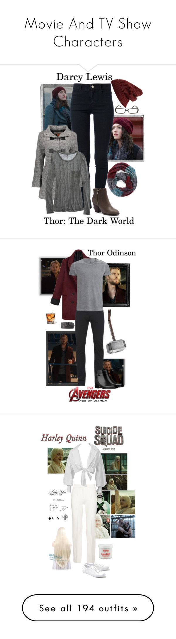 """""""Movie And TV Show Characters"""" by gone-girl ❤ liked on Polyvore featuring Polaroid, Forever 21, STELLA McCARTNEY, Fendi, David & Young, Django & Juliette, Lady von Hart, American Eagle Outfitters, Paul Smith and Belstaff"""