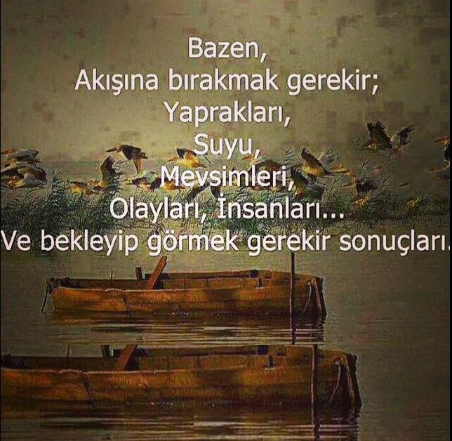 Bazen akışına bırakmak gerekir..../Zeynep Turan / TWITBURCC / instagram alıntıdır/ from rhatunolu