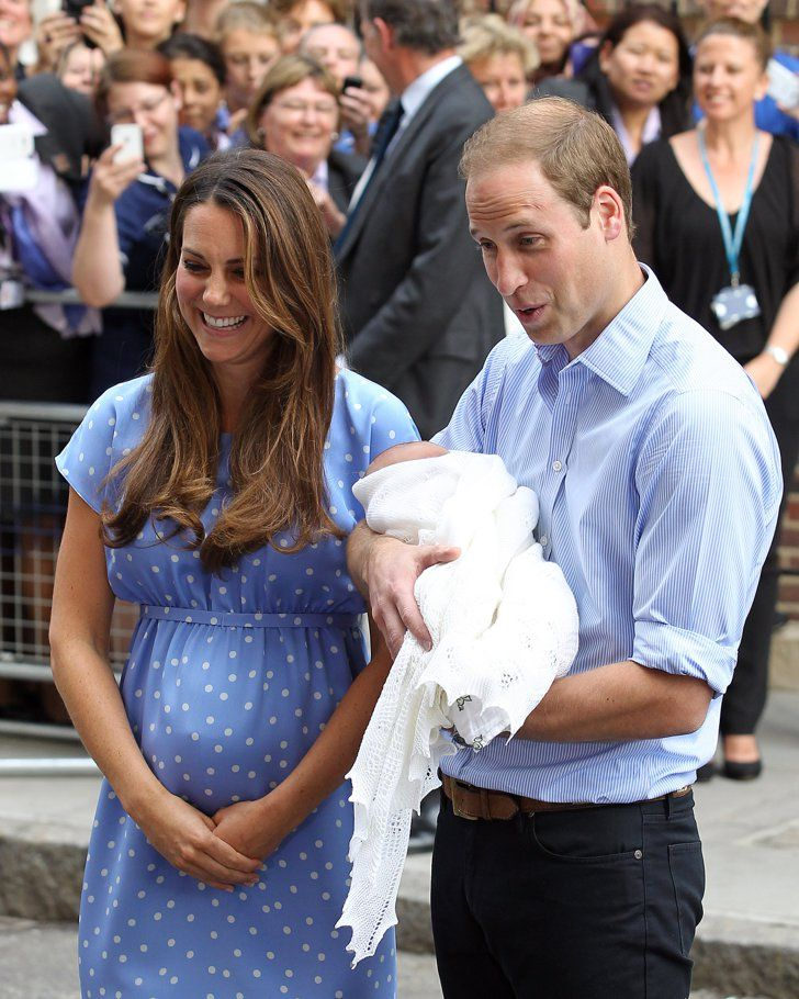 Pin for Later: Royal Rewind: Look Back on Prince George's First Appearance!  Kate Middleton laughed as Prince Wiliam joked around with the press.