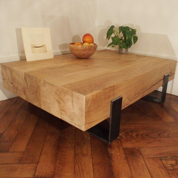 Table Basse Bois Brut Massif Une Maison Ecologique Table Basse Bois Brut Table Basse Bois Table Basse