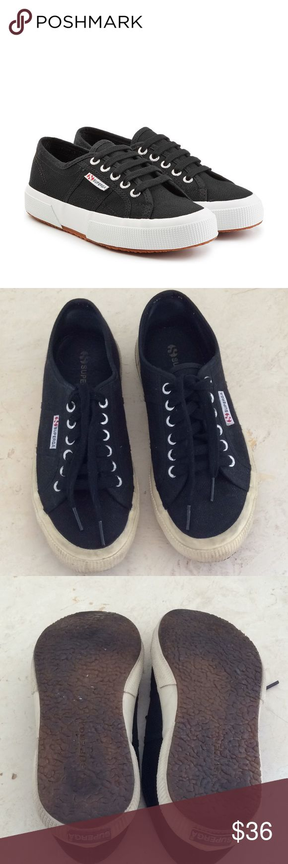 SUPERGA BLACK SNEAKERS🌟 Awesome black supergas in great condition🌟size 39 Superga Shoes Sneakers