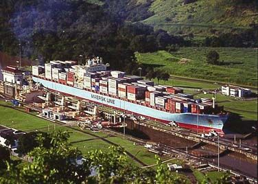 maersk line. panama canal. container shipping
