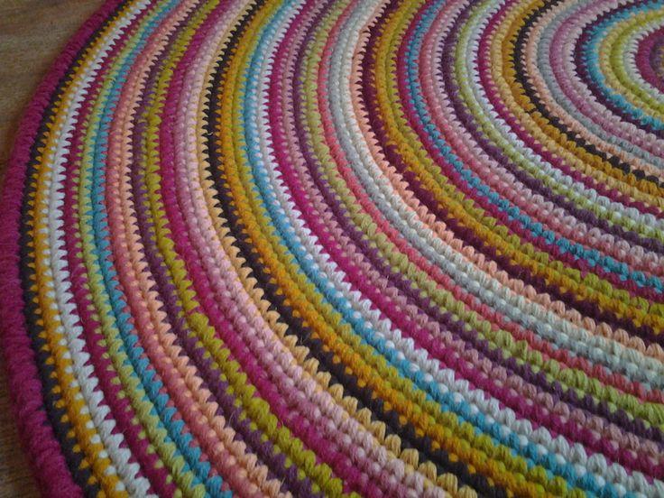Large crochet round rug, 63'' (160 cm)/Crochet Rug/Rugs/Rug/Area Rugs/Floor Rugs/Large Rugs/Handmade Rug/Carpet/Wool Rug by AnuszkaDesign on Etsy