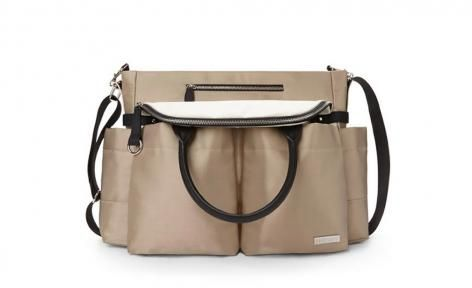 Champagne Chelsea Downtown Chic Diaper Satchel by Skip Hop