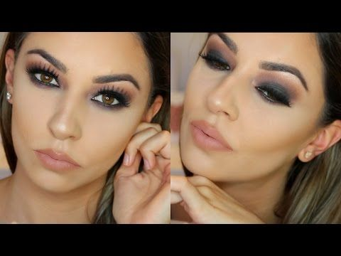 Grunge Fall Smokey Eye Makeup for Hooded Eyes - YouTube