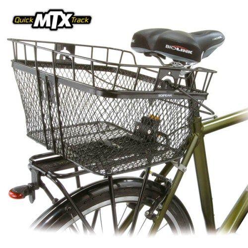 CESTA TRASEIRA TOPEAK MTX BASKET C/ SUPORTE FIXER 6 - BikeZone