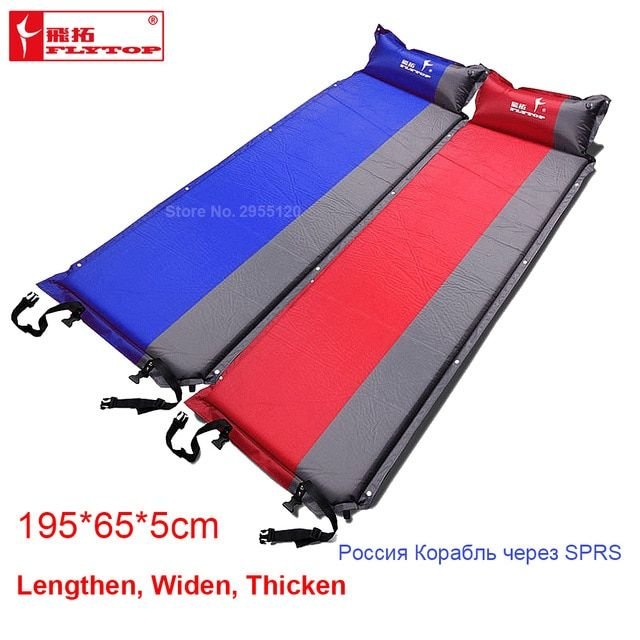 Flytop Self Inflating Inflatable Camping Picnic Mat Splicing Thick Air Mattress Sleeping Pad Tent Folding Folding Camp Bed Mats Review Camping Sleeping Pad Camping Bed Camping Mat