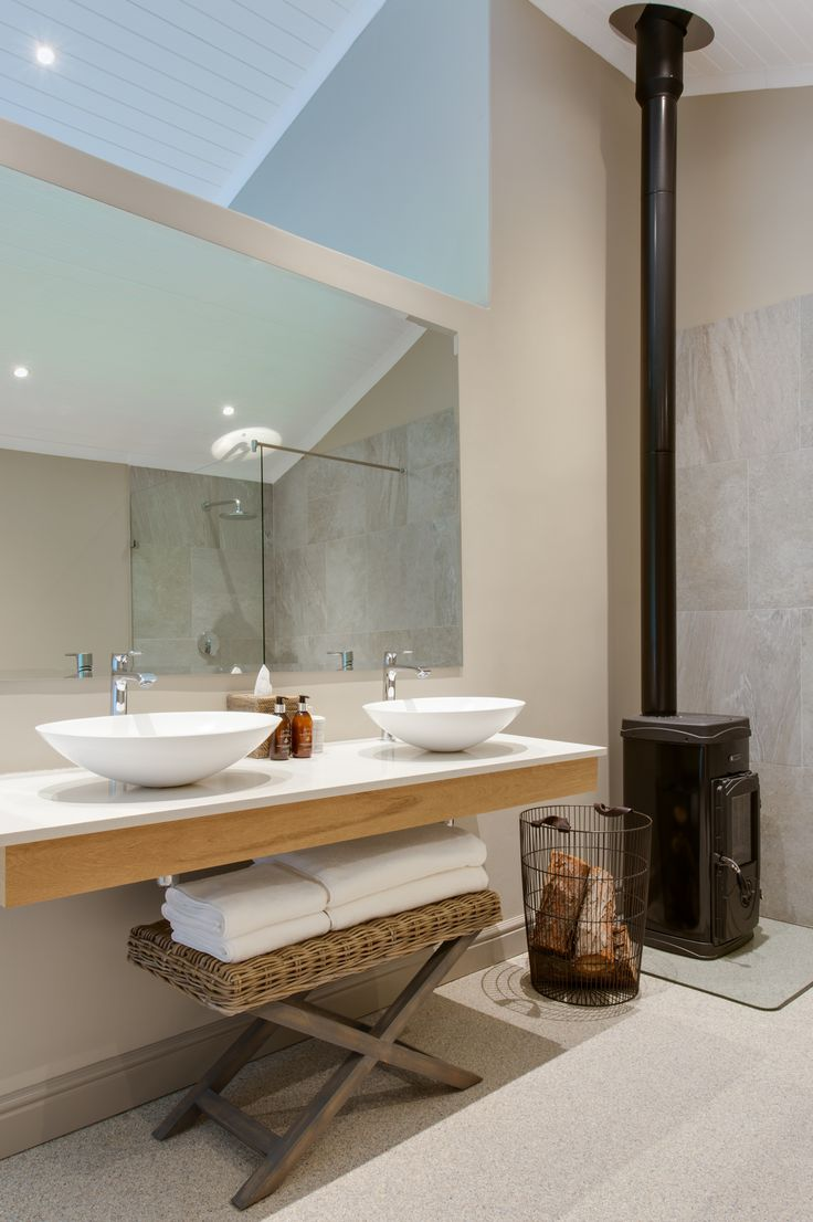 Suites 3 - 6. En-suite bathroom with fire place.